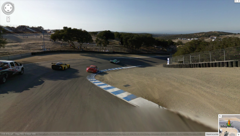Illustration for article titled So Apparently Laguna Seca Is on Street View