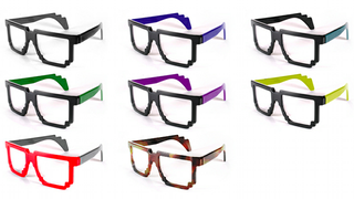 Illustration for article titled These Pixelated Glasses are the Definition of Computer-Geek Chic