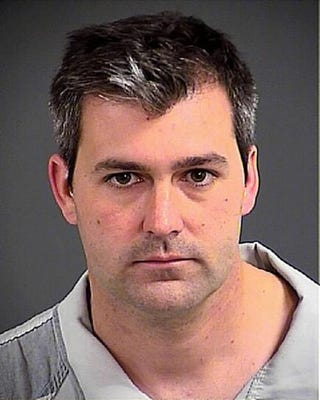 In this handout photo provided by the Charleston County Detention Center, Officer Michael Slager poses for his mug shot after being arrested on a charge of murder April 7, 2015, in North Charleston, S.C.Charleston County Detention Center via Getty Images