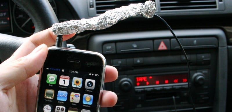 Illustration for article titled Aluminum Foil Stops iPhone Car Tape Adapter Buzz