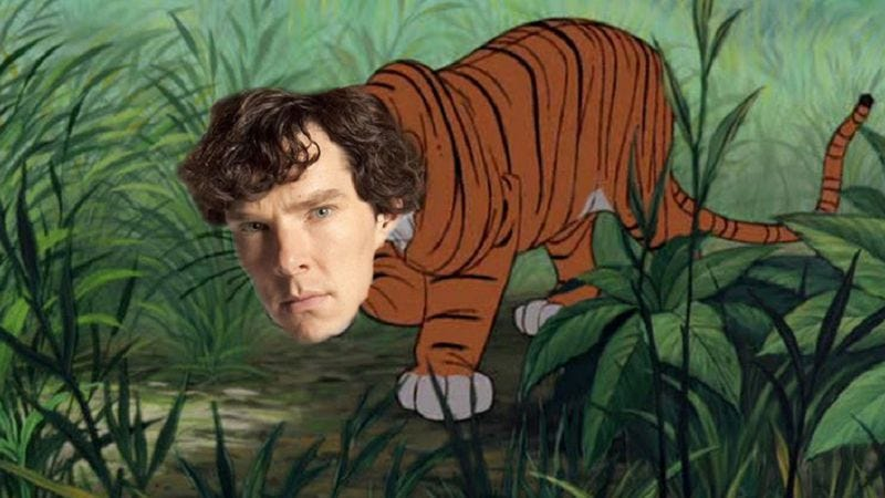 Illustration for article titled Benedict Cumberbatch will play the tiger in Warner Bros.' Jungle Book