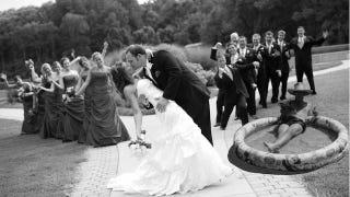 Illustration for article titled Hospitalized Dad Hilariously Included in Wedding Celebration Via Photoshop