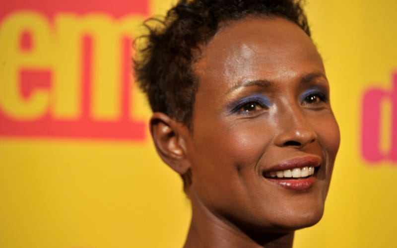 Author and former model Waris Dirie attends the premiere for 'Flor del Desierto' (Desert Flower) on March 10, 2010 in Madrid, Spain.