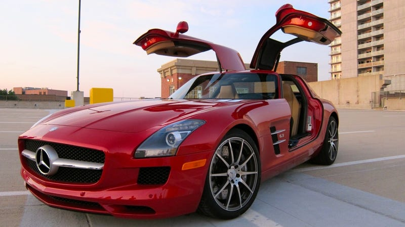 Illustration for article titled The 2011 Woodward Dream Cruise Jalopnik Staff Cruiser is the Mercedes-Benz SLS AMG