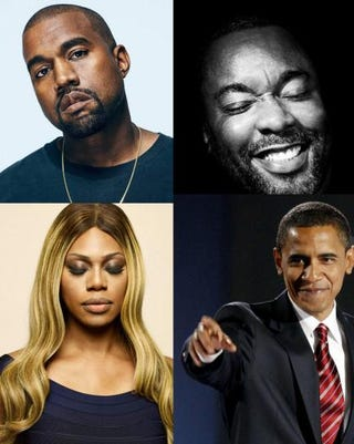Clockwise from top left: Kanye West, Lee Daniels, President Barack Obama and Laverne CoxTime; White House