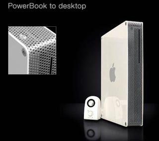 Illustration for article titled Old, Beaten PowerBook Reborn as Shiny, New Desktop