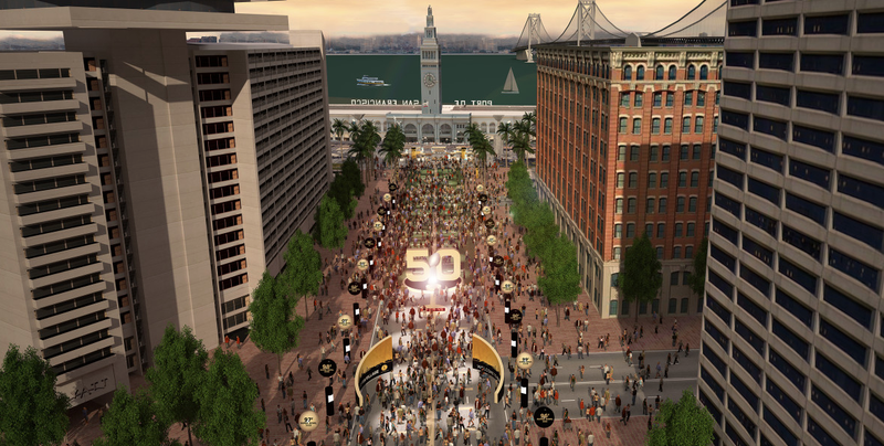 """Illustration for article titled Super Bowl to San Francisco: """"Can You, Like, Take Down All Those Icky Bus Wires?"""""""