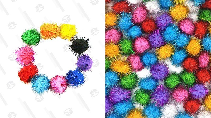 Get a Pack of 100 Sparkly Balls for Your Cat To Lose For Only $9