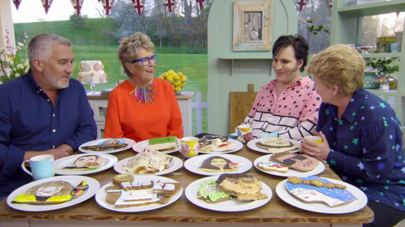 Paul Hollywood, Prue Leith, Noel Fielding, Sandi Toksvig, future pig feed