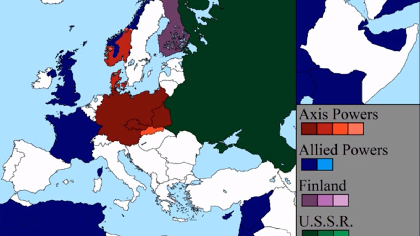 La Segunda Guerra Mundial, en siete minutos y un mapa