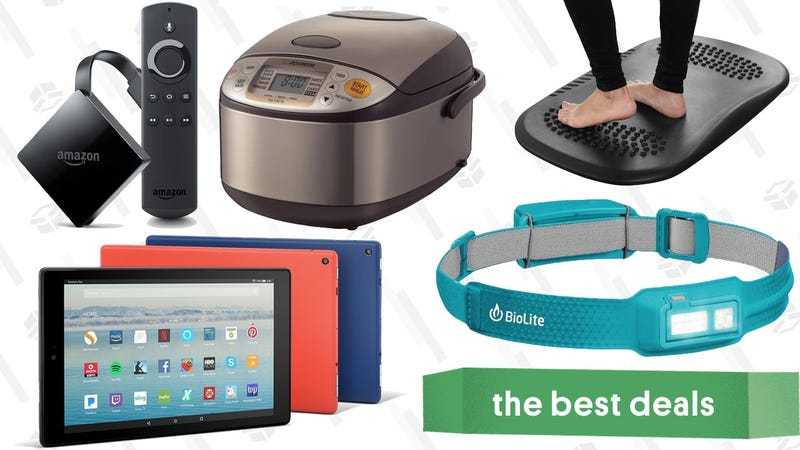 Illustration for article titled Tuesday's Best Deals: Amazon Gadgets, Rice Cooker, BioLite HeadLamp, and More
