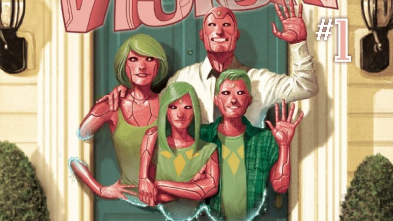 Illustration for article titled Exclusive Marvel preview: The Vision #1 brings a synthezoid family to suburbia