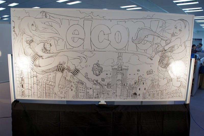 Illustration for article titled Marvel at Sony's Amazing Gravity Rush Whiteboard Drawings