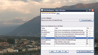 Illustration for article titled WebWallpaper Swaps Your Wallpaper on a Schedule from Webcams