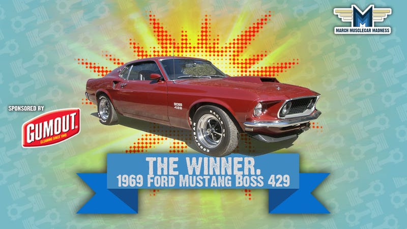 Illustration for article titled March Muscle Car Madness Winner: 1969 Ford Mustang Boss 429