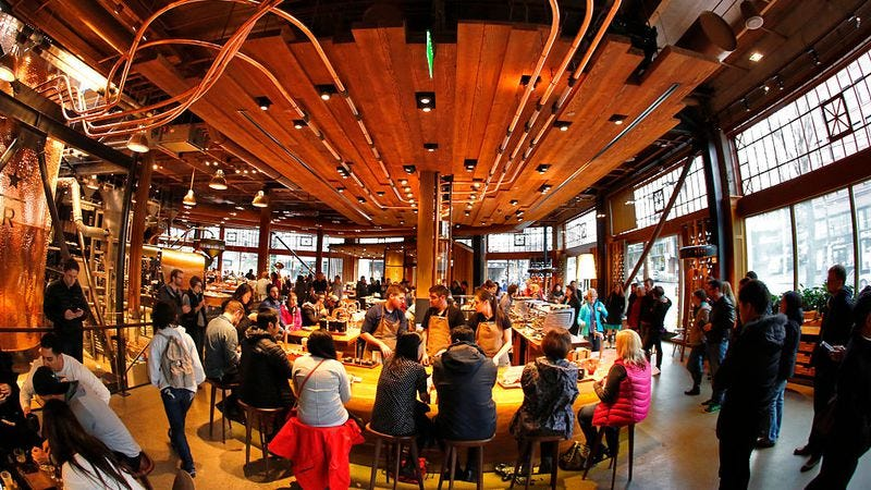 Starbucks Roastery & Tasting Room in Seattle (Photo: Don Bartletti/Los Angeles Times via Getty Images)
