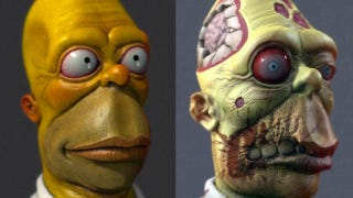 Illustration for article titled Stare Into the Unseeing Eyes Of Real-Life Zombie Homer Simpson