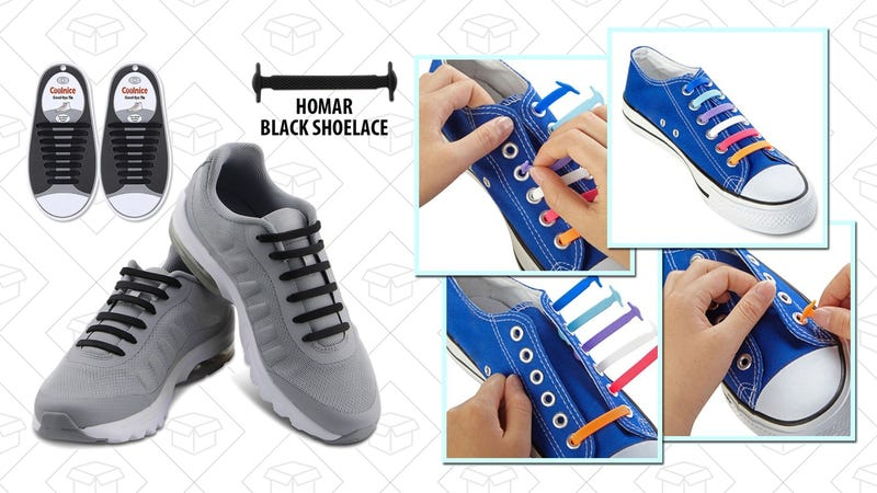 Homar No Tie Shoelaces, $6