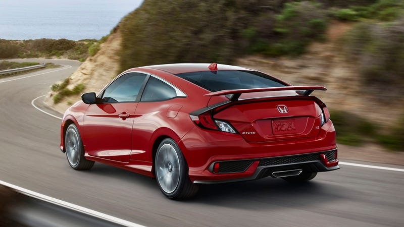 Illustration for article titled The 2017 Honda Civic Si Will Have A Somewhat Disappointing 205 Horsepower