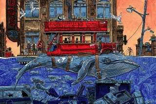 Illustration for article titled Take The Northbound Whale Bus Uptown