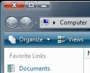 how to move the toolbar in windows to the left