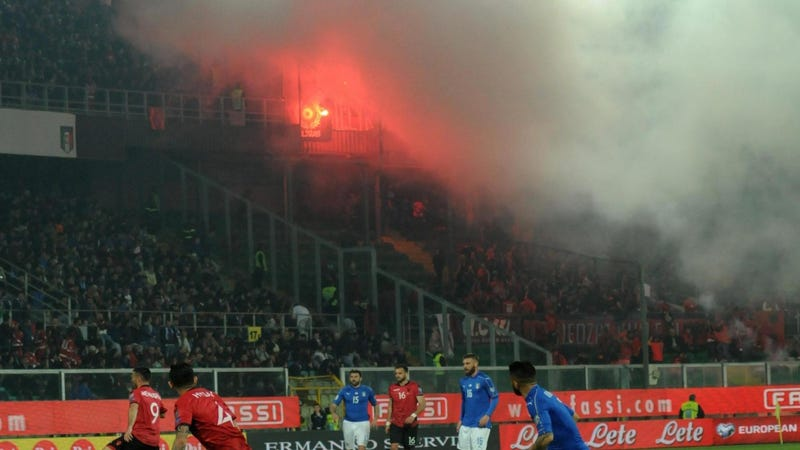 Albania Rebukes Fans For Throwing Flares And Smoke Bombs
