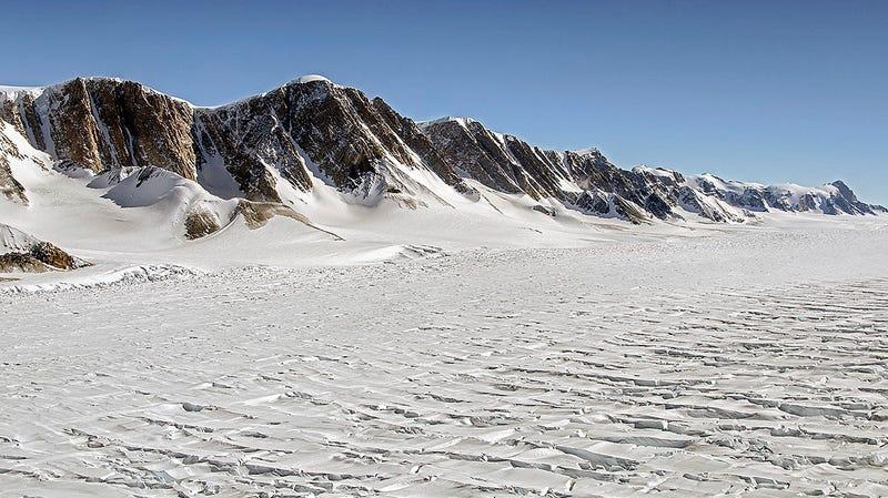 An East Antarctic glacier as seen during a NASA Operation IceBridge flight.
