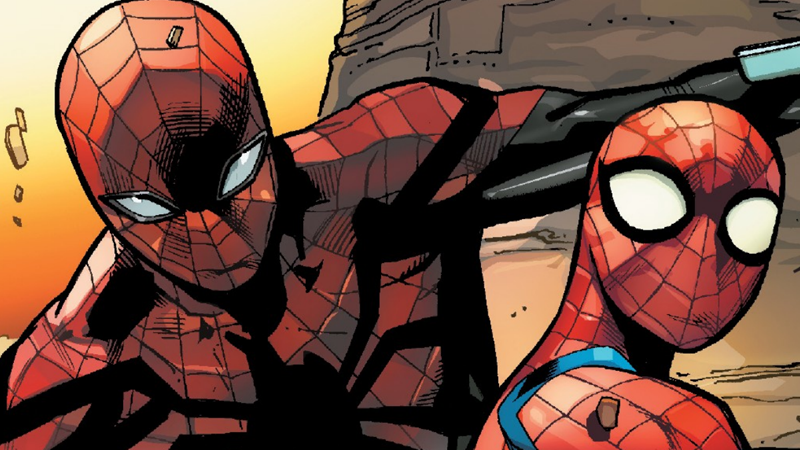 Otto Octavius and the Video Game Spider-Man meet a big new friend in Spider-Geddon #3.