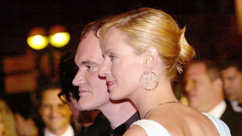 Thurman and Tarantino at the Cannes premiere of Kill Bill in 2004. (Photo: Tony Barson Archive/Getty Images)