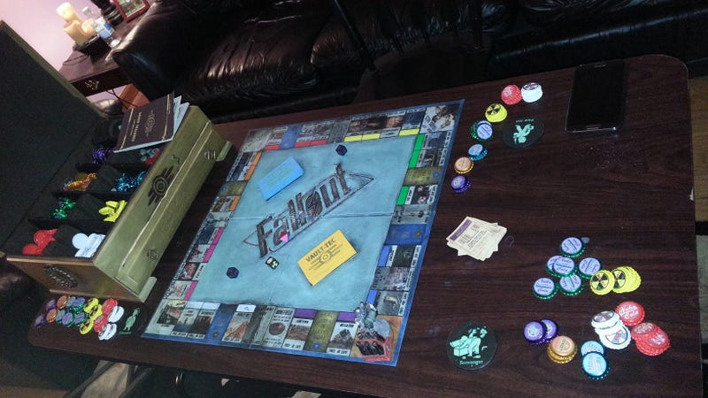 Illustration for article titled How Sweet, This Husband Gave His Wife A Handmade Fallout Monopoly Set