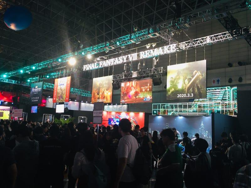 Illustration for article titled Final Fantasy VII Remake Seems Popular At The Tokyo Game Show