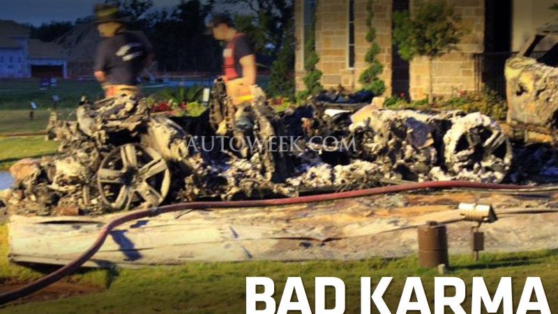 Illustration for article titled Brand New Fisker Karma Blamed For House Fire