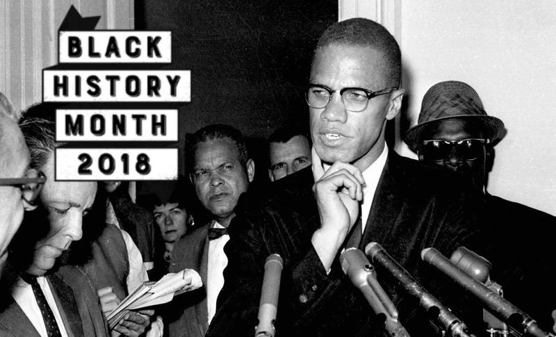 Civil rights leader Malcolm X speaks to reporters in Washington, D.C., on May 16, 1963.