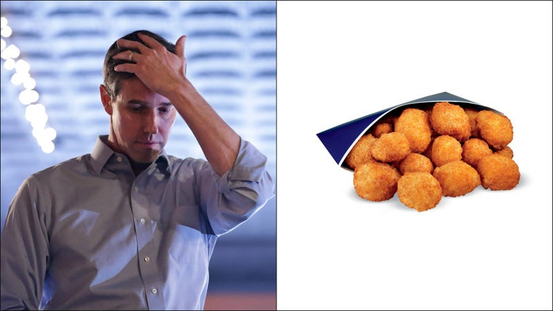 Illustration for article titled Critics indict Beto O'Rourke for not ordering cheese curds atCulver's