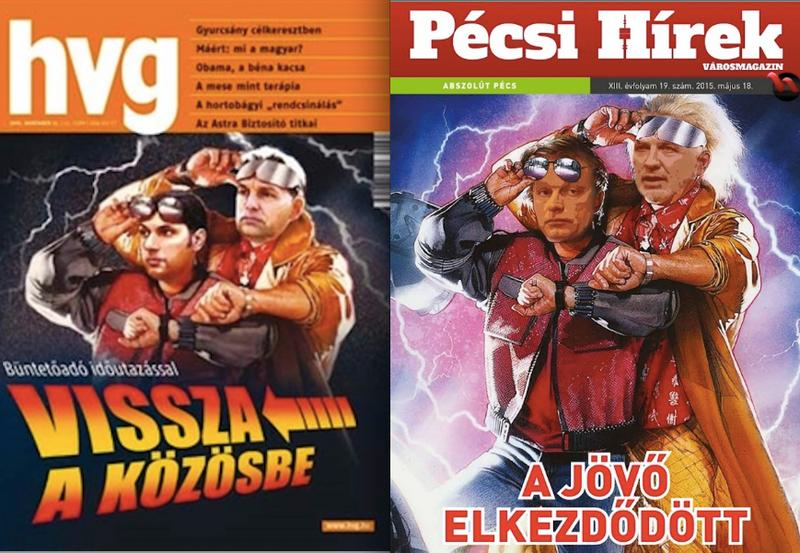 Illustration for article titled A HVG-től lopott címlapképpel nyalnak Orbánnak és Pávának