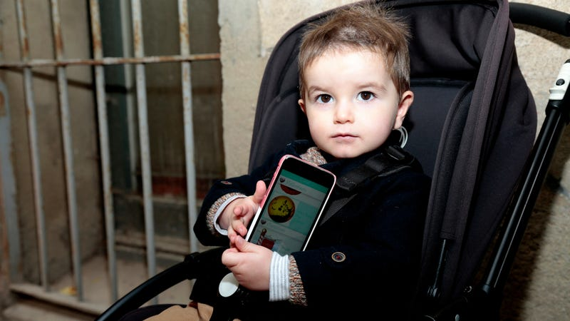 A child whose opinion on smartphones is unclear.