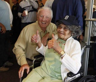 Illustration for article titled 104-Year-Old Woman Celebrates Birthday At Tigers Game, Wastes Her Life