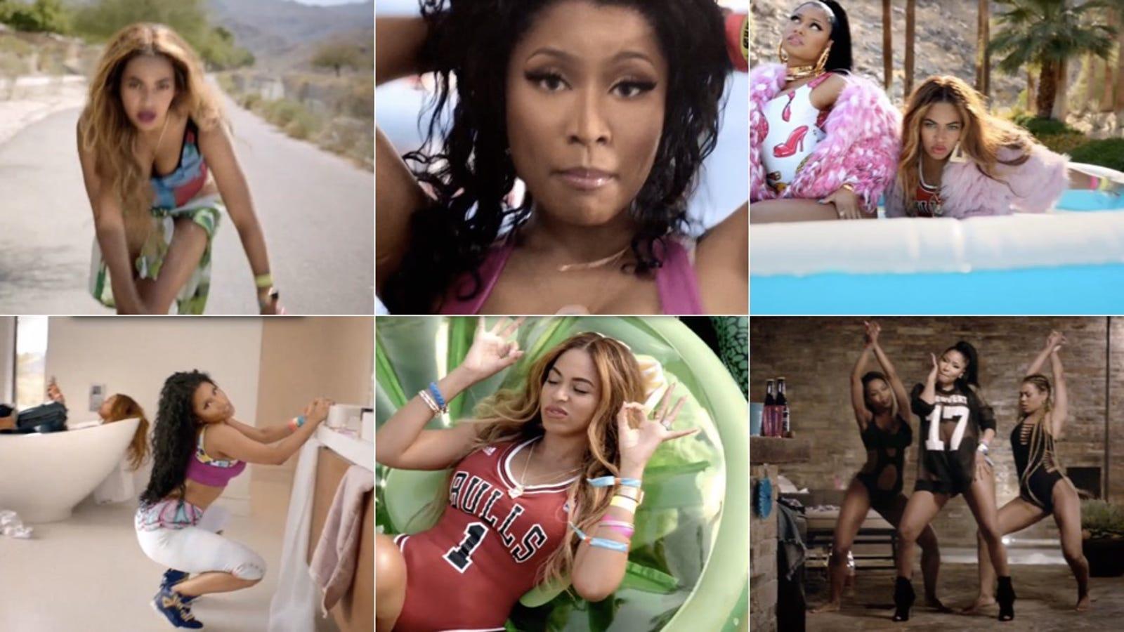 242b3663275 Beyoncé and Nicki Minaj Caress