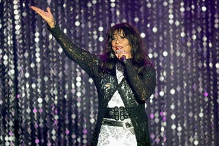 Joni Sledge of Sister Sledge appears on stage at the amfAR's 23rd Cinema Against AIDS Gala at Hotel du Cap-Eden-Roc on May 19, 2016, in Cap d'Antibes, France. (Andreas Rentz/Getty Images)