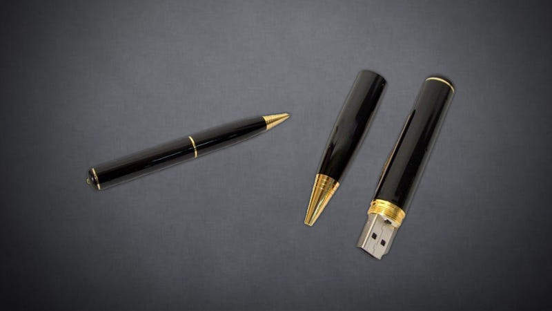Illustration for article titled Digistore 4GB Spy Pen Camera Discreetly Captures Photos and Video