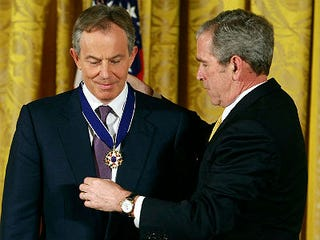 Tony Blair and George W. Bush (Mark Wilson/Getty Images)