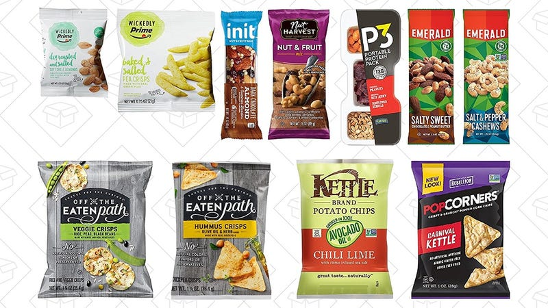 Snack Sample Box, $10 + $10 credit towards a future snack purchase