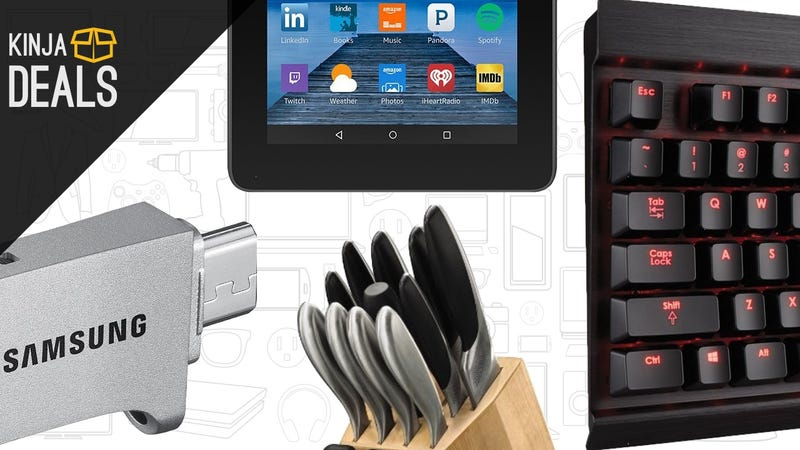 Illustration for article titled Today's Best Deals: Free Chipotle, Clicky Keyboard, $40 Tablet, and More