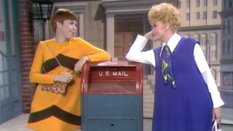 Screenshot: Carol Burnett and Lucille Ball on The Carol Burnett Show