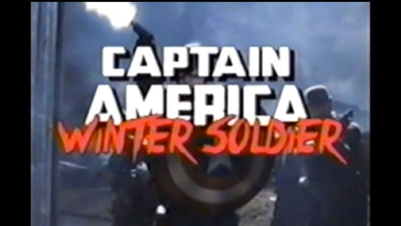 Illustration for article titled Watch Captain America: The Winter Soldier reimagined as an '80s action movie