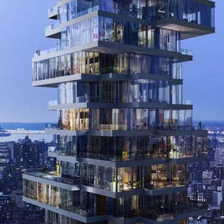 Illustration for article titled Bird's Nest Architects' Latest Unveiling: A Vertigo-Inducing Jenga Apartment Tower in NYC