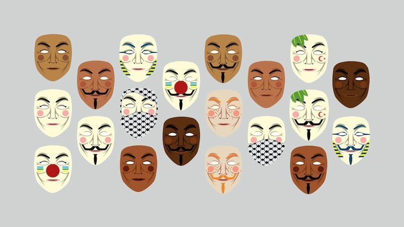 Illustration for article titled A Guy Fawkes Mask for Every Skin Tone, Gender, Culture and More
