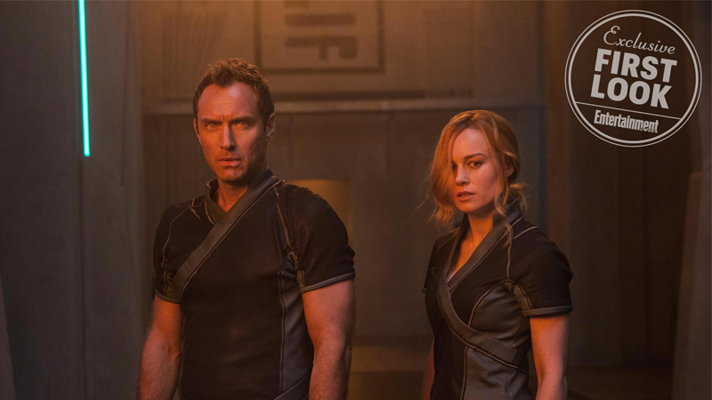 Brie Larson and Jude Law as Captain Marvel's Carol Danvers and... maybe-could-be-probably Mar-Vell?
