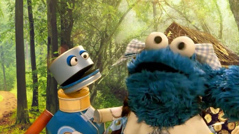Illustration for article titled Finally, the perfect pairing of Cookie Monster and Busta Rhymes