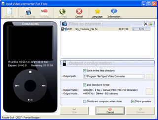 Illustration for article titled Download of the Day: iPod Video Converter (Windows)